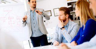 une réunion professionnelle en entreprise
